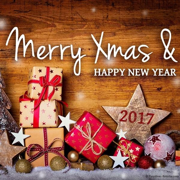 Weihnachtskarte -  Merry Xmas and Happy New Year 2017